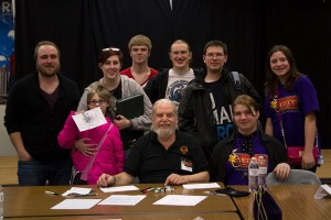Frank Mentzer with some Evercon gamers